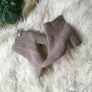 Zara Grey Suede Boot Heel